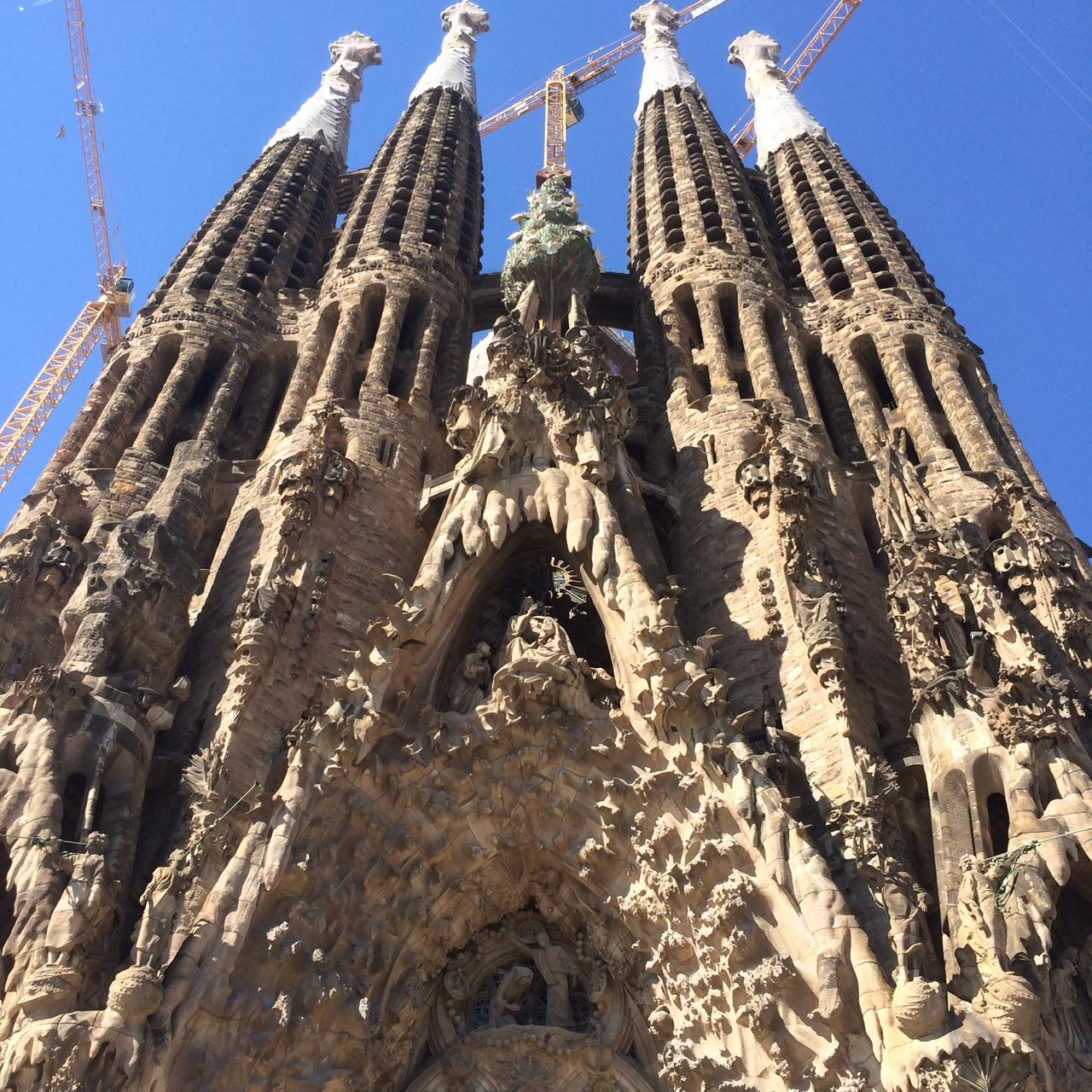 The Stunning Exterior Of Gaudis Modern Gothic La Sagrada Familia Basilica In Barcelona Spain 120 Year Old Building Is Scheduled For Completion 10