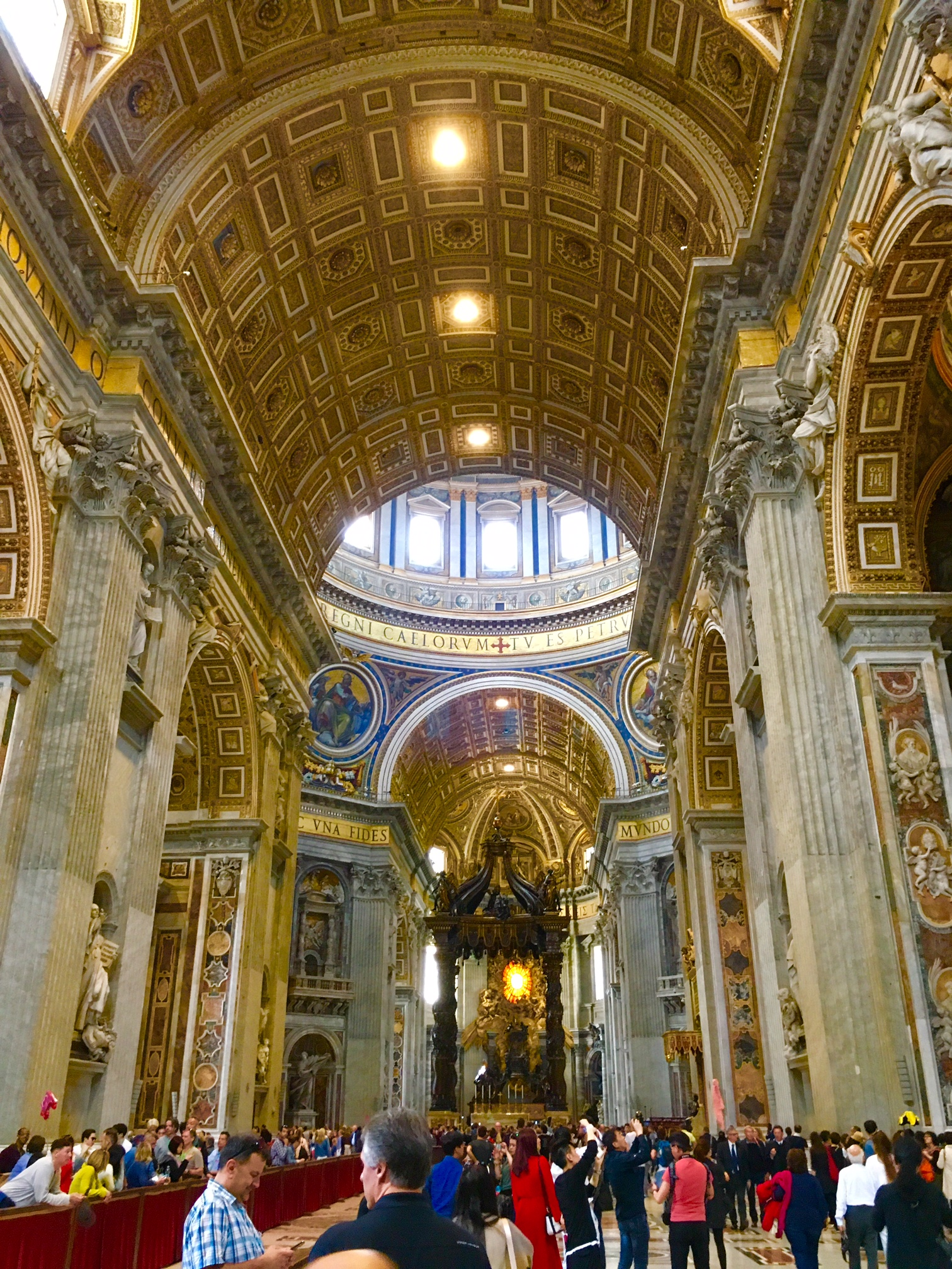 The Cavernous Interior Of Saint Peters Cathedral, Vatican