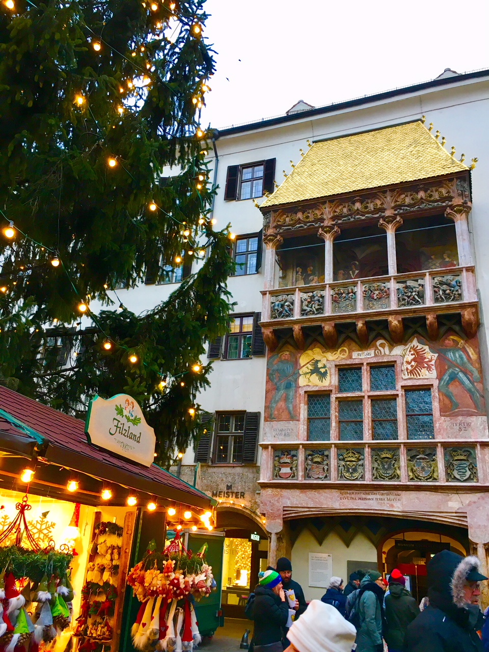 The Little Golden Roof At The Christmas Markets In
